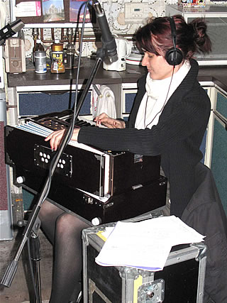 The Birthday Girl plays harmonium for Gregory Webster's session on Rocker's show - 6/2/10